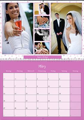 Fotokalender zur Hochzeit