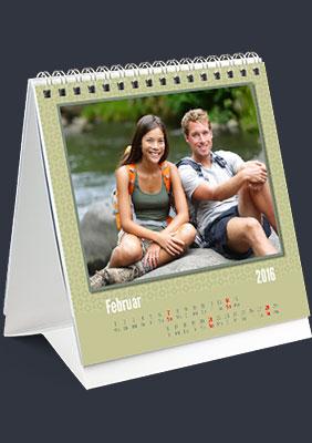 Tischkalender Vorlage Greeen Olive