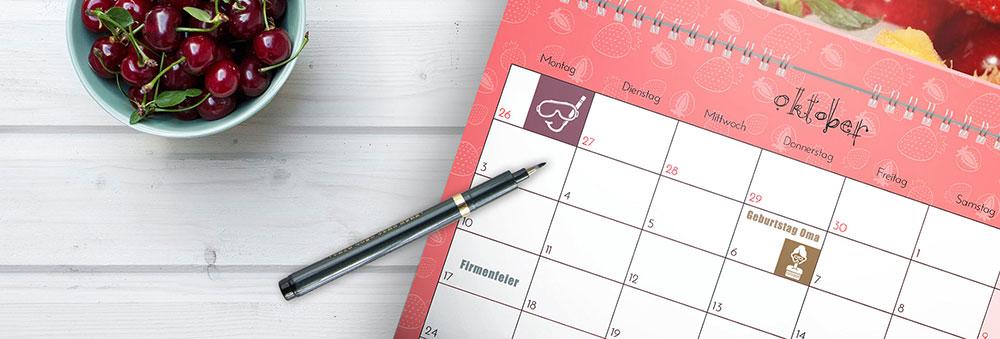 Terminkalender aus eigenen Fotos